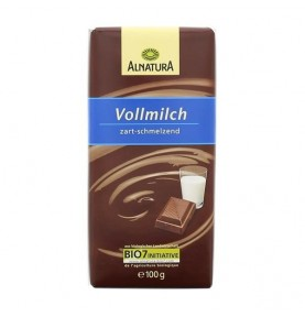 Alnatura mliečna čokoláda 100g