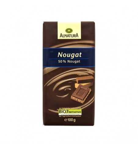 Alnatura mliečna čokoláda s nugátom 100g