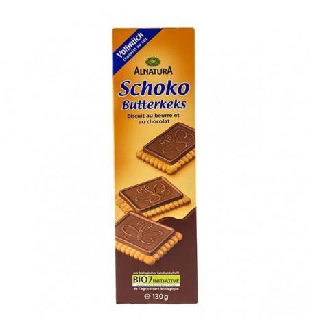 Alnatura Maslové keksíky s čokoládou 130g